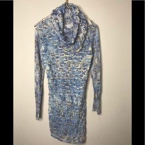 Alberto Malaki Cowl Neck Knit Dress M NWOT